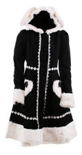 Coat gothic lolita black and white hooded kawaii Pentagramme