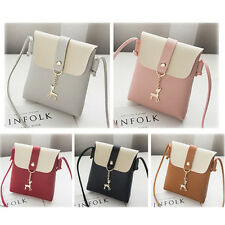Women Messenger CrossBody Shoulder Handbag Tote Mini Leather Satchel Bag Purse J
