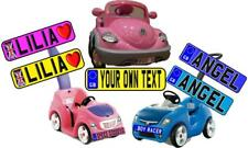 Large - Pair  - Kids Car/Baby Buggy/Walker Number Plate Novelty - Pair of Plates