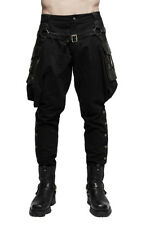 Trousers bouffant black man military with pockets, gn Punk rave k- Punk rave
