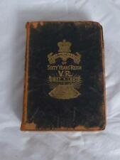 Antique Queen Victorian Book In Com of Sixty Years Reign VR 1837 1897 Holy Bible