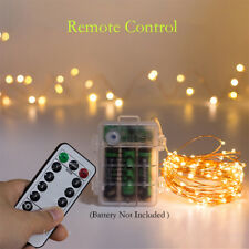 LED Battery Fairy String Lights Party Outdoor  Xmas Remote Control Wedding Party