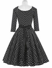 Sale Dress Picnic Dot Cocktail Pinup Housewife Vintage Party Polka 50s Style