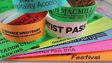 Printed Tyvek Wristbands 100 to 500 (19mm) Party, events, security bands