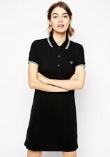 Fred Perry Classic Twin Tipped Bowling Dress - 3 Button Collar - Black - 6 8 10
