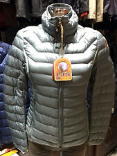 PARAJUMPERS ITALY GEENA WOMEN'S LIGHT DOWN JACKET, 100% GENUINE, STEEL BLUE, S