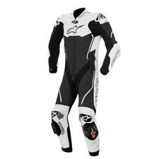 Alpinestars Atem Leather Race Motorcycle Motorbike 1 Piece Suit - Black / White