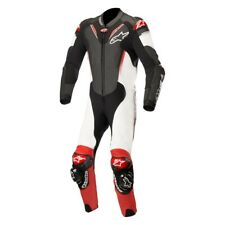 Alpinestars Atem V3 Leather Race Motorcycle 1 Piece Suit - Black / White / Red