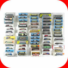 N Scale Flat Car Lot - Some w Load, Stake, Piggy Back Trailer/ Combined Shipping