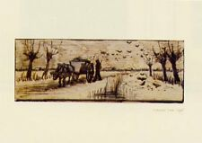New Ox Cart in the Snow Vincent Van Gogh Mini Print
