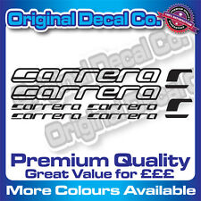 Premium Quality CARRERA Bike Decals Stickers road mountain bike frame mtb