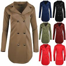 Ladies Long Sleeve Golden Button Coat Cardigan Womens Tuxedo Collared Mini Dress