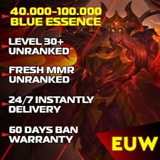League of Legends LoL EUW Account 30-40 Level accounts Smurf BE IP Unranked  PC