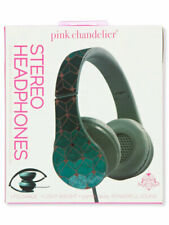 Pink Chandelier Stereo Headphones - green, one size
