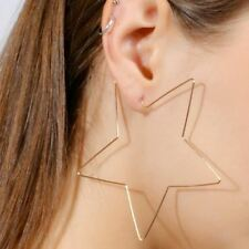 Fashion Gold Silver Big Star Hoop Earrings Statement Jewelry Large Earrings  For dad210992bdf