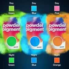 Hemway Neon Glow in the Dark Pigment Powder for Paint Nail Art Crafts Acrylic