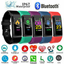 BLUETOOTH SMART WATCH BAND HEART RATE BRACELET FIT UK BLOOD PRESSURE MONITOR BIT