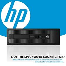 HP ProDesk 600 G1 SFF Desktop PC, 4th Gen i5 Quad Core 8GB RAM SSD Win 10 Pro