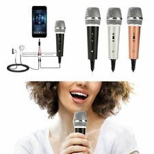 Mini 3.5mm Microphone Mic Mobile Phone Laptop MSN Karaoke For Android IOS IN