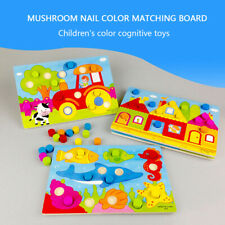 Kids Color Cognition Board Montessori Educational Puzzle Toys Skill Learning Toy