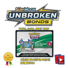 Pokemon Sun & Moon Unbroken Bonds Online Booster Codes for PTCGO Fast E Delivery