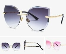 New Fashion Men Women Sunglasses Metal Frame Glasses Eyewear Lens Oversized