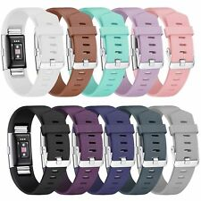 Fitbit Charge 2 Replacement Silicone Watch Wrist Sports Band Strap Small / Large