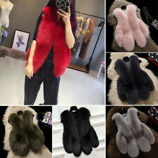 Luxury Women Casual Fluffy Faux Fur Waistcoat Gilet Jacket Vest Coat PLUS SIZE