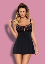 "Sexy Lingerie ღ ""Obsessive"" Floweria charming chemise & thong  Soft Nightwear ღ"