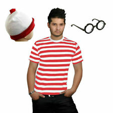 e52a2c295 Ladies Mens Licensed Wheres Wally Kit Strips Fun Stag Do Fancy Dress XS-XXXL
