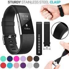 For Fitbit Charge 2 Wrist Straps Wristband Best Replacement Soft Silicone Watch