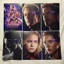 Avengers Endgame 4x6in Prints All Mini Posters & Heroes Iron Man Captain America