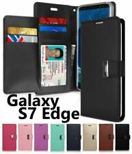 For Samsung Galaxy S7 Edge - Multi Cards Leather ID Wallet Flip Pouch Case Cover