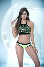 Mapale 2475 Glow in the Dark Two Piece Neon Green High Neck Top and Bottom Dance