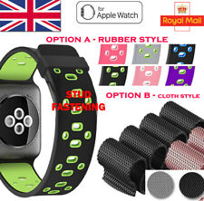Strap For iWatch Apple Watch Series 1 2 3 4 UK Woven Nylon Sport Loop Wrist Band