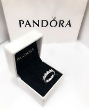 NEW Authentic PANDORA Silver 925 Exotic Tribal Crown Stacking Ring 198033CZ