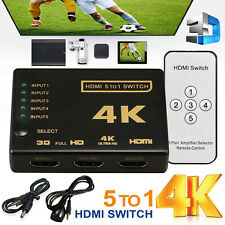 5 Port HDMI Switch Hub Box Cable Splitter Switcher 4K*2K 1080P PS3 PS4 Xbox HDTV