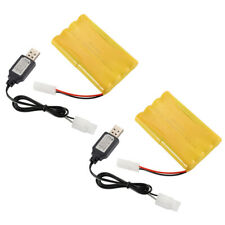 1pc/2pcs 9.6V 800mAh Rechargeable Ni-Cd Battery KTE Plug+USB Charger for Toys
