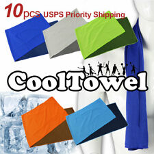 10pcs Cooling Towel Fitness Dry Sweat Sports Towel Gym Workout Iced Hiking