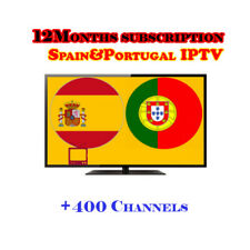 12 months IPTV subscription spain for m3u Enigma2 Mag25X android smart ip tv box