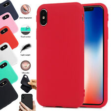Ultra Slim TPU Soft Silicone Rubber Matte Back Case Cover For Apple iPhone X XS