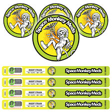 Space Monkey Meds Pressitin Stickers - Cali Labels  Tuna Can Stickers 100ml 3.5g
