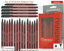 NATARAJ Classic 0.7mm Fine Tipped BLACK BLUE RED Ballpoint Pens Smooth Writing