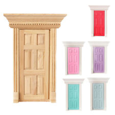 Fairy Door Painted Red and White Dolls House Miniature 12th scale DIY695