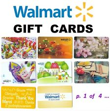 2 WALMART store Collectible Canada gift cards