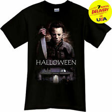 MICHAEL MYERS Halloween Horror Thriller Movie Black T-Shirt