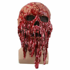 Scary Bloody Face Skull Mask Halloween Zombie Creepy Horror Costume Party Props@
