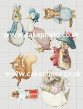 12 PRECUT Edible Vintage Peter Rabbit disc wafer//rice paper cake//cupcake toppers