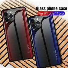 Fiber Tempered Glass Back Case Cover For iPhone 11 Pro Max XR XS 6 6S 7 8 Plus