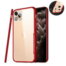 For iPhone 11 Pro Max XR XS X 7 8 Tempered Glass Case Shockproof Back Slim Cover